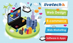 livetech logo - the north wales web designers