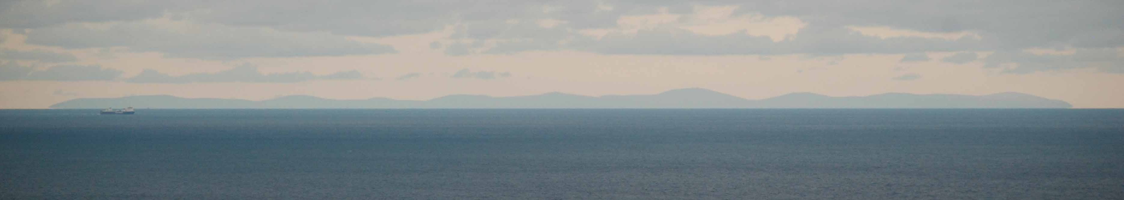 The Isle of Man clearly visible on the horizon.