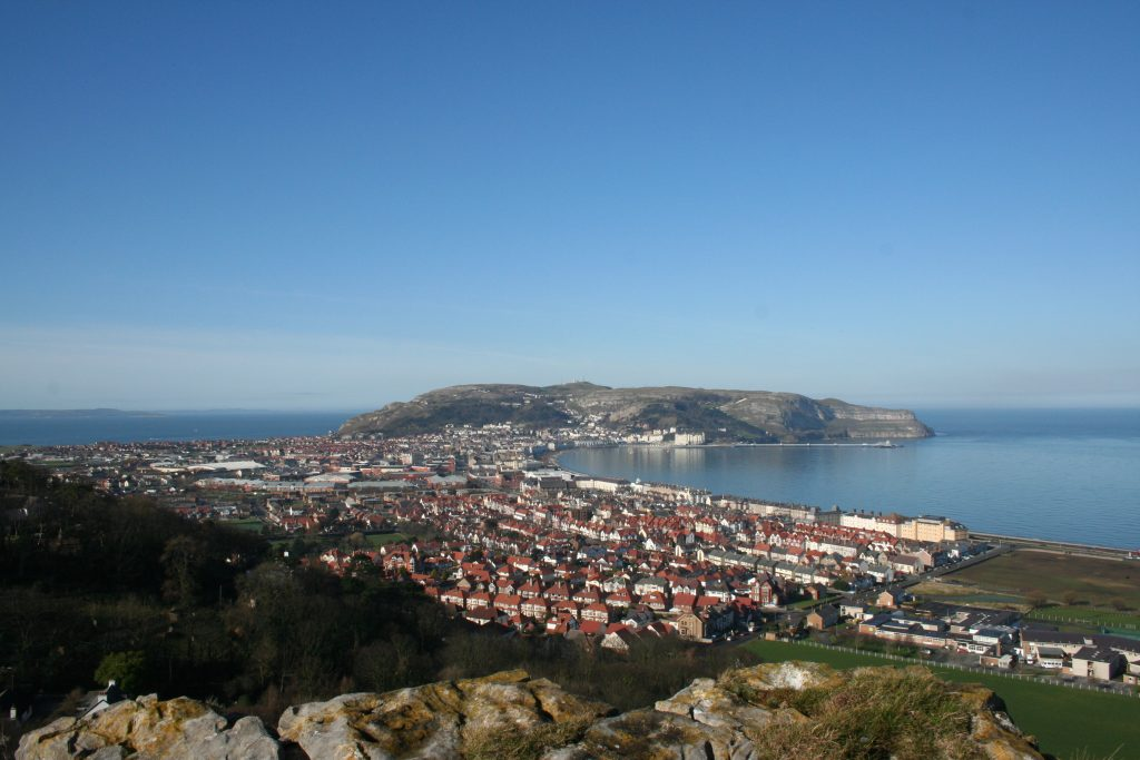 view of great orme from little orme